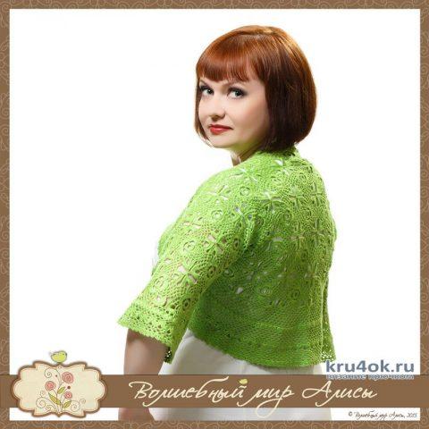 Болеро-шраг Julia с рисунком ананас. Работа Alise Crochet вязание и схемы вязания