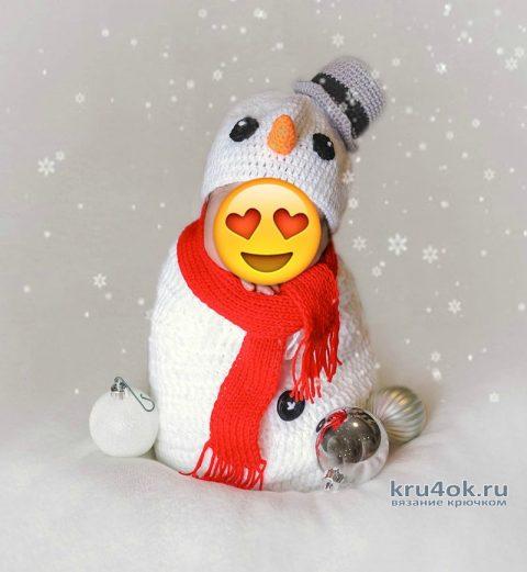 Костюм снеговика фотосессии. Работа Екатерины вязание и схемы вязания