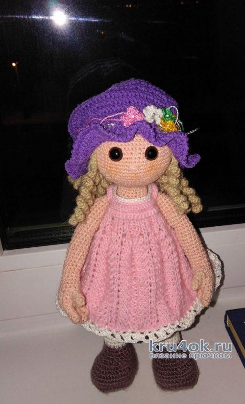 Кукла Герда крючком. Работа Веры вязание и схемы вязания