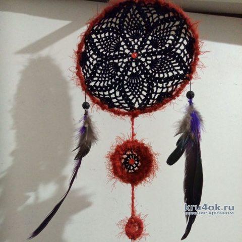 Ловец снов Черная лилия. Работа Натали Крафт вязание и схемы вязания