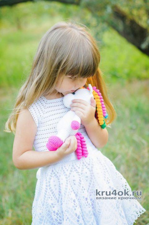 Нарядное платье для девочки. Работа AlenaVerkhovod вязание и схемы вязания