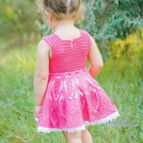 Платье для девочки 3-х лет. Работа AlenaVerkhovod вязание и схемы вязания