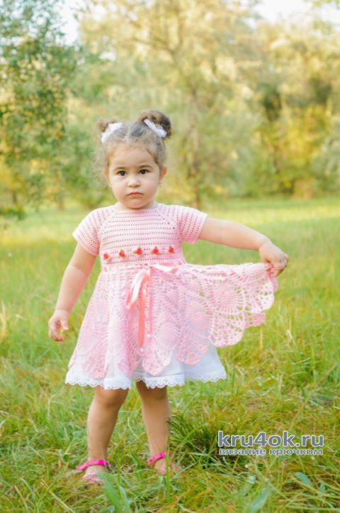 Платье для девочки крючком. Работа AlenaVerkhovod