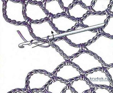 Пляжная туника из мотивов. Работа Екатерины вязание и схемы вязания