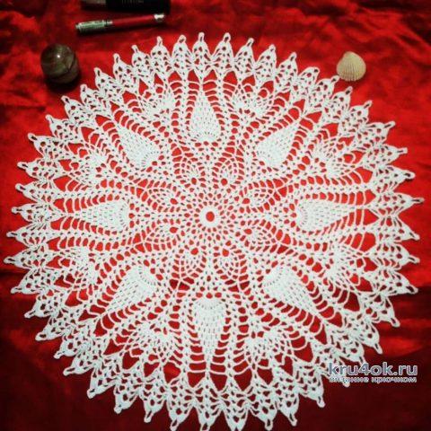 Салфетка с ананасами. Работа Натали Крафт вязание и схемы вязания