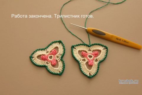 Трилистник с попкорнами, мастер - класс от Светланы Шевченко Sova Fotina вязание и схемы вязания