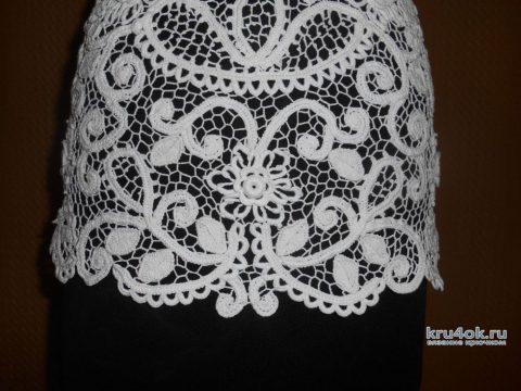 Вязаная крючком блуза в технике ирландское кружево. Работа Светланы вязание и схемы вязания