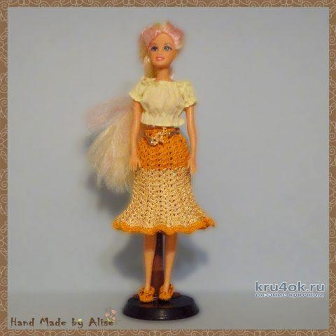 Юбка для Барби крючком. Работа Alise Crochet вязание и схемы вязания