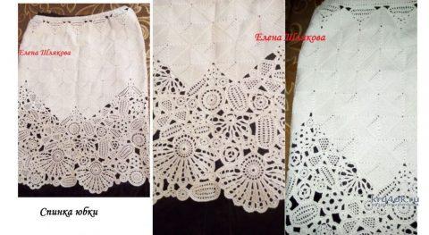 Женский костюм крючком. Работа Елены Шляковой вязание и схемы вязания