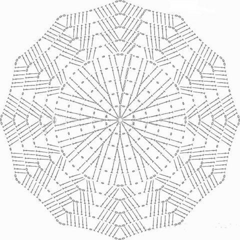 9 схем вязания салфеток для новичков и не только