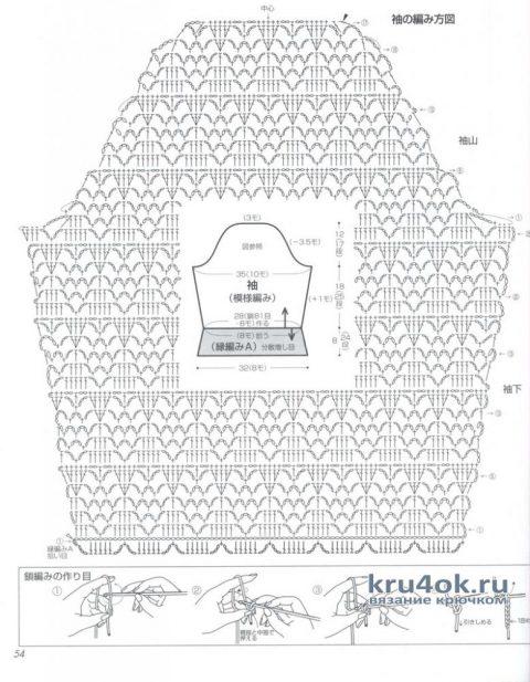 Ажурный женский джемпер. Работа Елены Шевчук вязание и схемы вязания