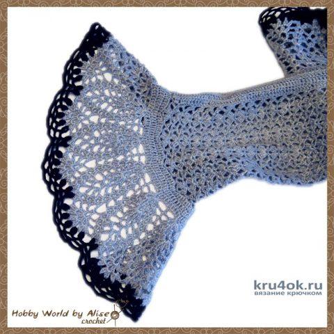 Болеро - шраг Meri. Работа Alise Crochet вязание и схемы вязания