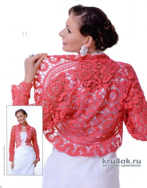 Болеро крючком Брюггская весна. Работа Alise Crochet вязание и схемы вязания