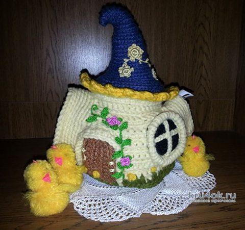Грелка на чайник. Работа Натальи Енник вязание и схемы вязания