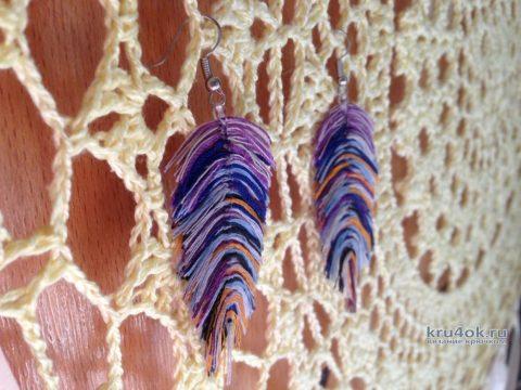 Как сделать перья из пряжи. Работа Myrka_FM