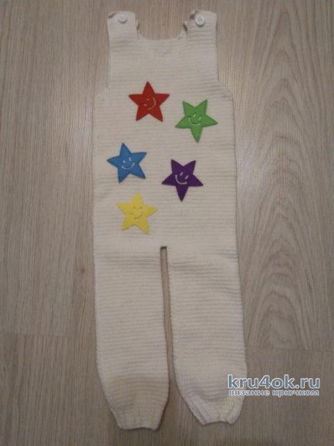 Комбинезон для малышка крючком. Работа Кристины Филиной вязание и схемы вязания