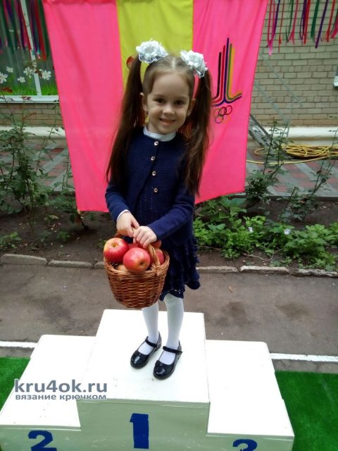 Костюм для девочки крючком. Работа AlenaVerkhovod вязание и схемы вязания