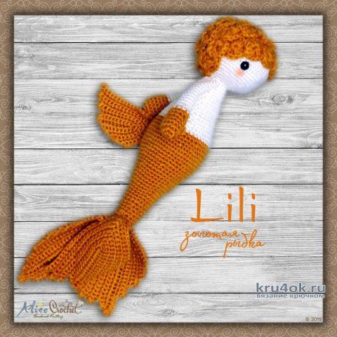 Кукла золотая рыбка Lili в стилеLalilala. Работа Alise Crochet вязание и схемы вязания
