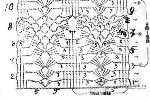 Летний кардиган крючком. Работа Альбины Петровны вязание и схемы вязания