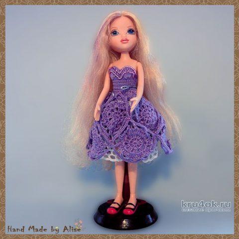 Платье для Барби Кружевная фантазия. Работа Alise Crochet