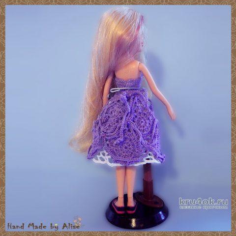 Платье для Барби Кружевная фантазия. Работа Alise Crochet вязание и схемы вязания