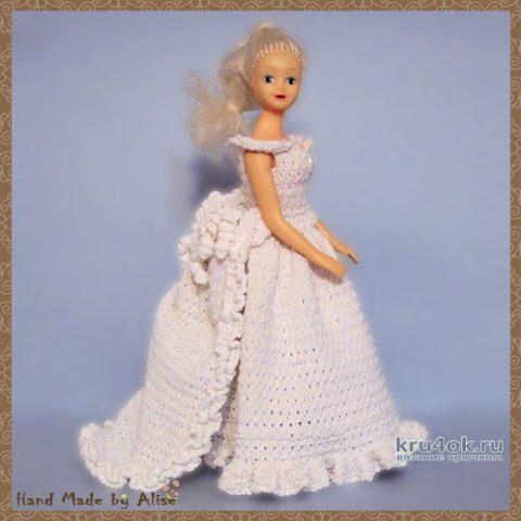 Платье для Барби невесты. Работа Alise Crochet