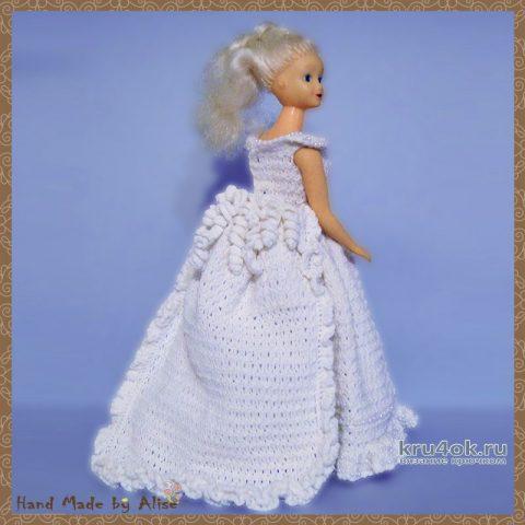 Платье для Барби невесты. Работа Alise Crochet вязание и схемы вязания