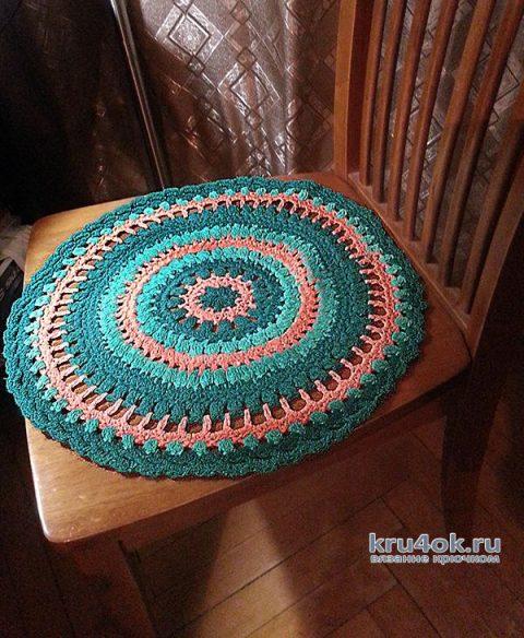 Сидушка для стула крючком. Работа Натальи Енник вязание и схемы вязания