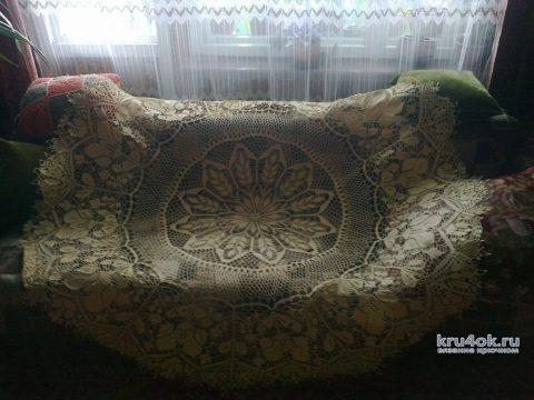 Скатерть на круглый стол крючком от Ирины Георгиевны