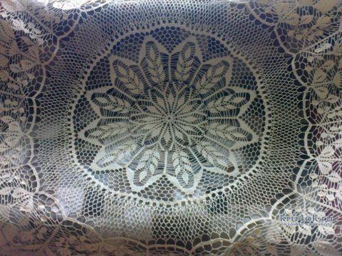 Скатерть на круглый стол крючком. Работа Ирины Георгиевны вязание и схемы вязания