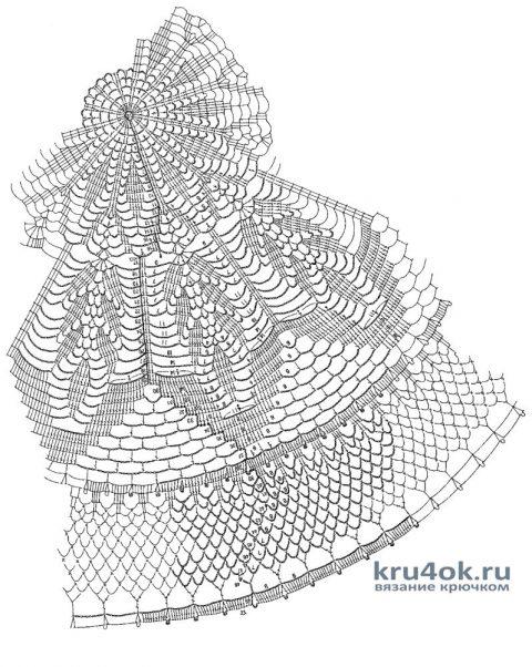 Скатерть на круглый стол крючком от Ирины Георгиевны схема вязания