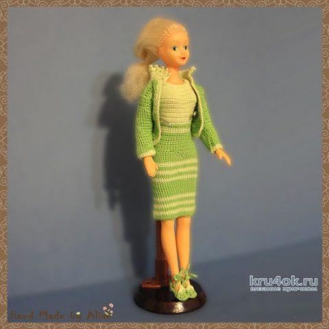 Вязаный костюм для Барби. Работа Alise Crochet вязание и схемы вязания