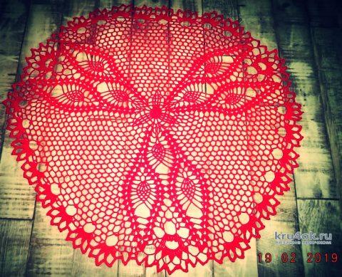 Яркая салфетка. Работа Анны вязание и схемы вязания