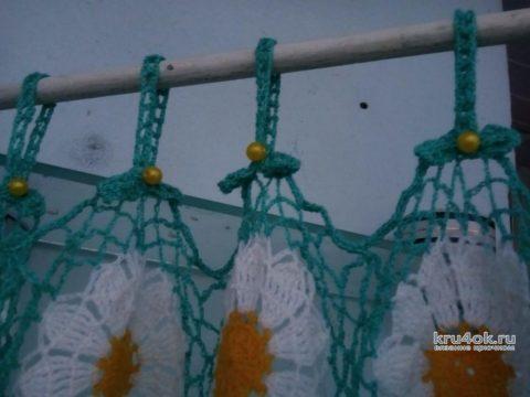 Занавески крючком Ромашковое поле. Работа Ирины Георгиевны вязание и схемы вязания