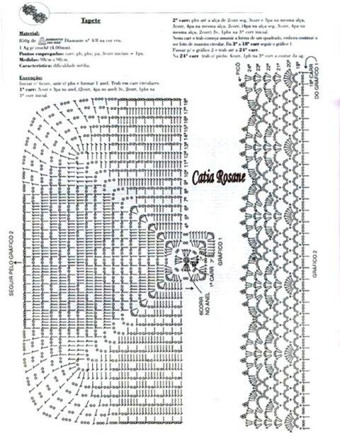 Квадратная салфетка, схема простая