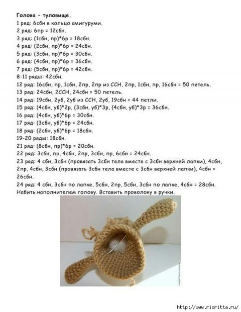 Description and patterns of knitting hedgehog