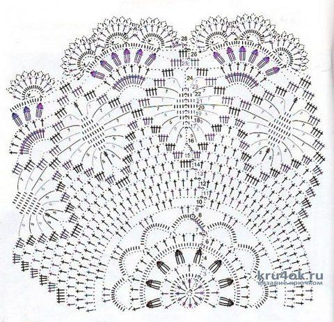 Ажурная салфетка Царская корона. Работа Людмилы Кузьминской вязание и схемы вязания