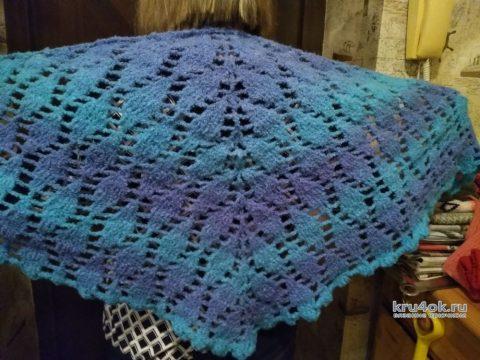 Ажурный платок крючком. Работа Кристины Филиной вязание и схемы вязания