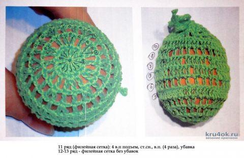 Мешочек для пасхальных яиц крючком. Работа Alise Crochet вязание и схемы вязания