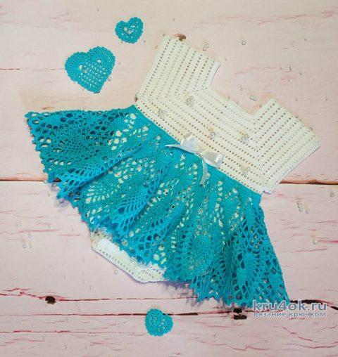 Платье-боди для самых маленьких принцесс! Работа AlenaVerkhovod вязание и схемы вязания