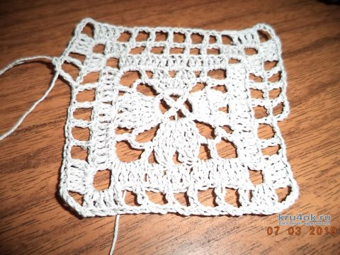 Плед бабушкин квадрат. Работа Анны вязание и схемы вязания