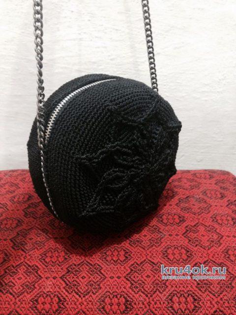 Рокерская сумка крючком. Работа Аксиньи Григ вязание и схемы вязания