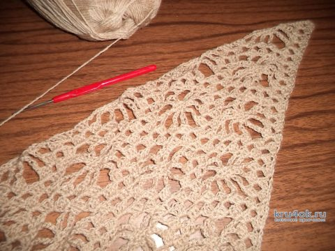 Шаль ажурная. Работа Анны вязание и схемы вязания