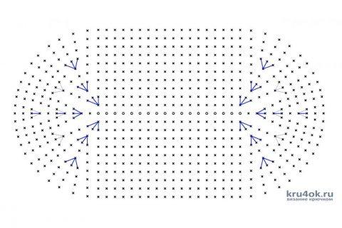Сумка вечерняя Жемчужина. Работа Аксиньи Григ вязание и схемы вязания