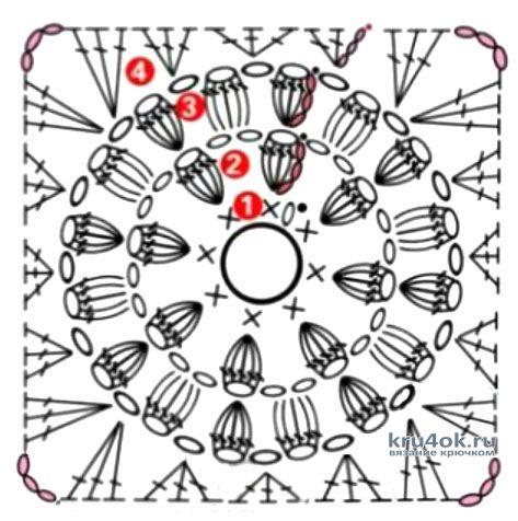 Вязанный крючком детский плед. Работа Людмилы Ильичевой вязание и схемы вязания
