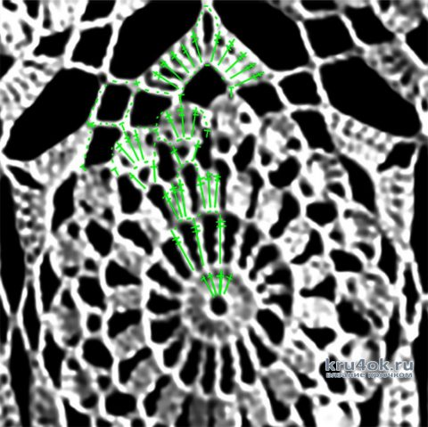 Женская летняя кофточка. Работа Марии Григорьевой вязание и схемы вязания
