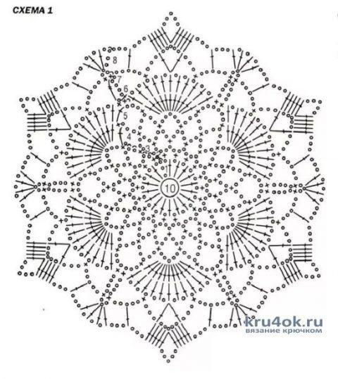 Женское платье, связанное крючком из мотивов. Работа Марии Григорьевой вязание и схемы вязания