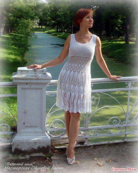 Нарядное летнее платье крючком