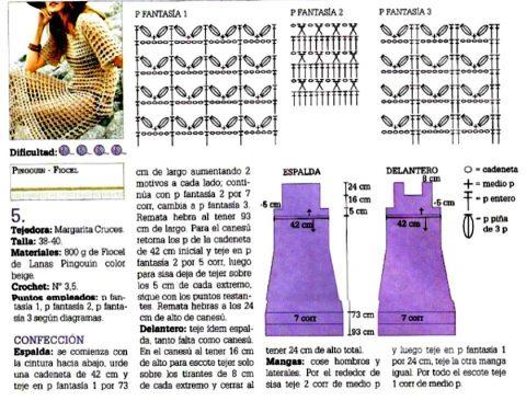 Схемы вязания летнего платья крючком