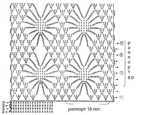 схема вязания безрукавки